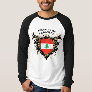 Proud to be Lebanese Tshirts