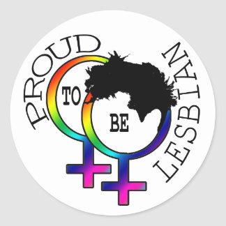 Proud To Be Lesbian Classic Round Sticker