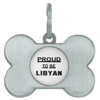 Proud to be Libyan Pet ID Tags