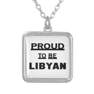 Proud to be Libyan Silver Plated Necklace