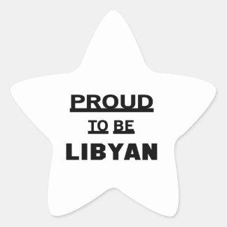 Proud to be Libyan Star Sticker