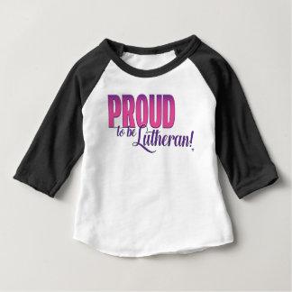 Proud to be Lutheran  - Baby 3/4 Sleeve Raglan Baby T-Shirt