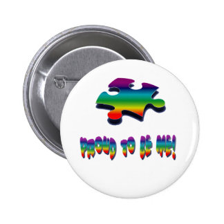 Proud to be me! pinback button