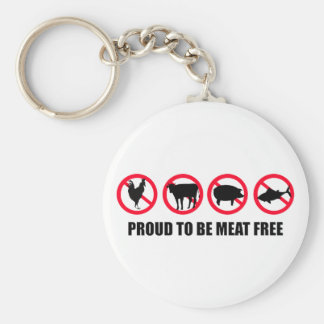 Proud to be Meat Free Keychain