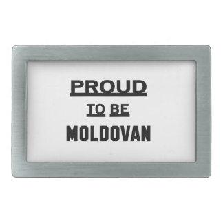 Proud to be Moldovan Belt Buckles