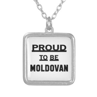 Proud to be Moldovan Silver Plated Necklace