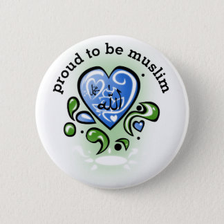 proud to be muslim 2 inch round button