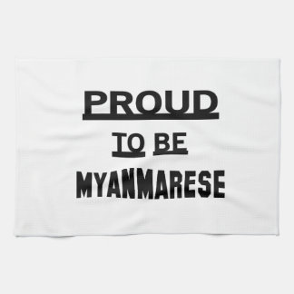 Proud to be Myanmarese Towels