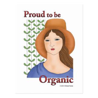 Proud to be Organic Postcard