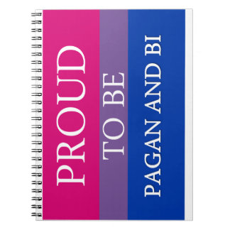 Proud To Be Pagan and Bi Spiral Notebook