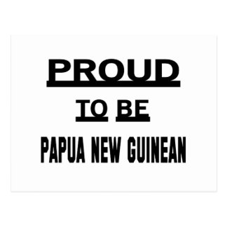 Proud to be Papua New Guinean Postcard