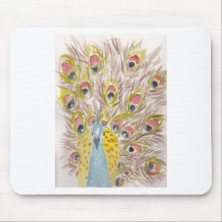 proud to be peacock mouse pad