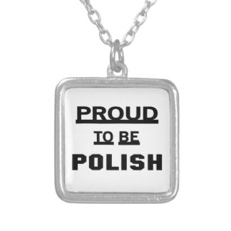 Proud to be Polish Silver Plated Necklace