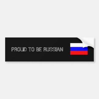 Proud to be Russian Bumper Stiker Adhésifs Pour Voiture