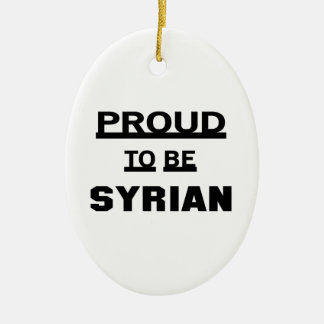 Proud to be Syrian Ceramic Oval Ornament