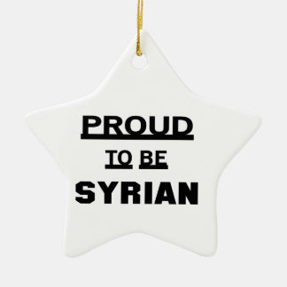 Proud to be Syrian Ceramic Star Ornament