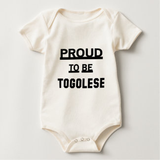 Proud to be Togolese Baby Bodysuit