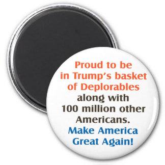 proud to be trump supporter 2 inch round magnet