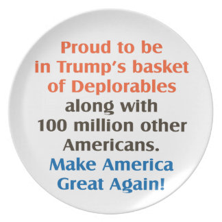 proud to be trump supporter plate