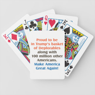 proud to be trump supporter poker deck