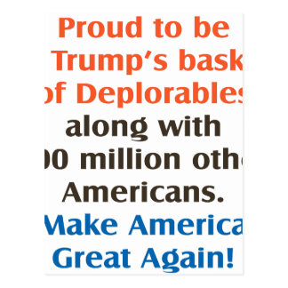proud to be trump supporter postcard