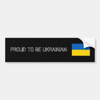 PROUD TO BE UKRAINIAN BUMPER STICKER ADHÉSIFS POUR VOITURE