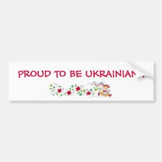 PROUD TO BE UKRAINIAN ! BUMPER STICKER