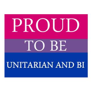 Proud To Be Unitarian and Bi Postcard