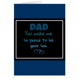 proud to be your son card