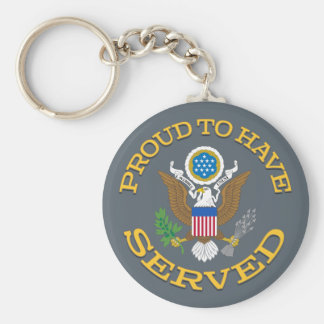 Proud To Have Served Keychain