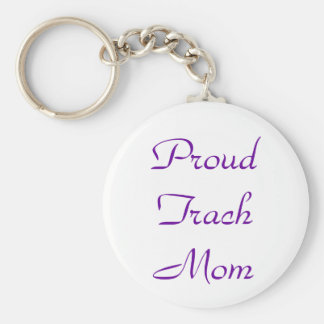 Proud Trach Mom Keychain