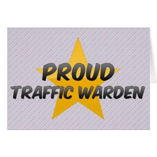 Proud Traffic Warden Card
