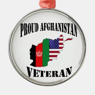 Proud US Afghanistan veteran Metal Ornament