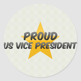 Proud Us Vice President Classic Round Sticker