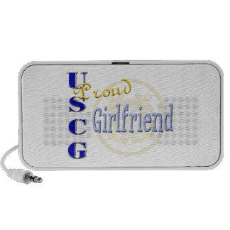 Proud USCG Girlfriend Doodle Speaker