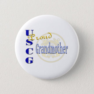 Proud USCG Grandmother 2 Inch Round Button