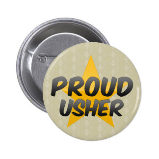 Proud Usher 2 Inch Round Button
