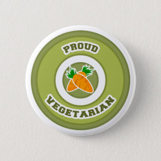 Proud Vegetarian 2 Inch Round Button