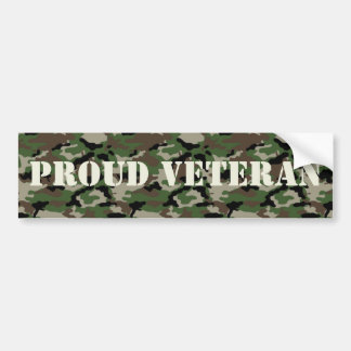 Proud Veteran Bumper Sticker