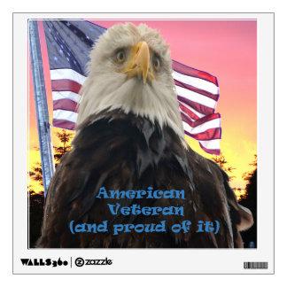 Proud veteran wall decal