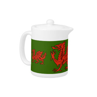 Proud Welsh Dragon Teapots