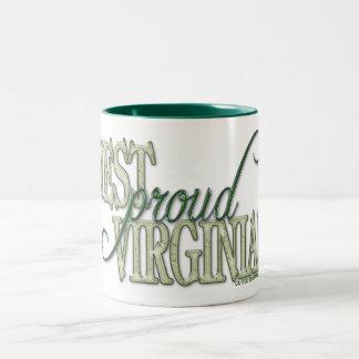 Proud West Virginian Two-Tone Coffee Mug