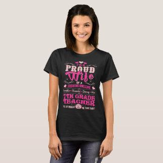 Proud Wife 7th Grade Teacher Bought Shirt Gift TsT