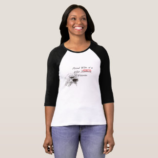 """""""Proud Wife of a 101st Airborne Veteran"""" T-Shirt"""