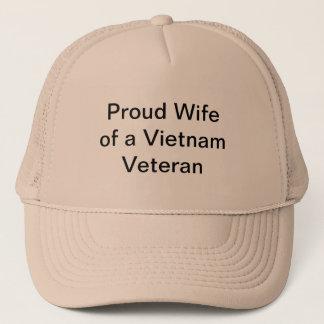 Proud Wife of a Vietnam Veteran Trucker Hat