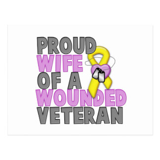 Proud Wife of a Wounded Veteran Postcard