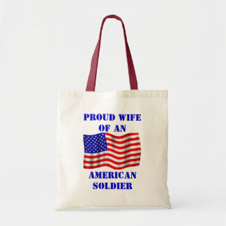 Proud Wife Of An American Soldier Flag Tote Bag