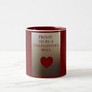 proud wife Two-Tone coffee mug