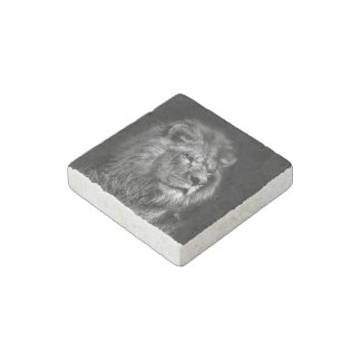 Proud Young Lion Stone Magnet