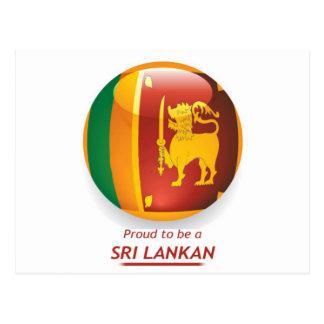proude to be sri lankan. postcard